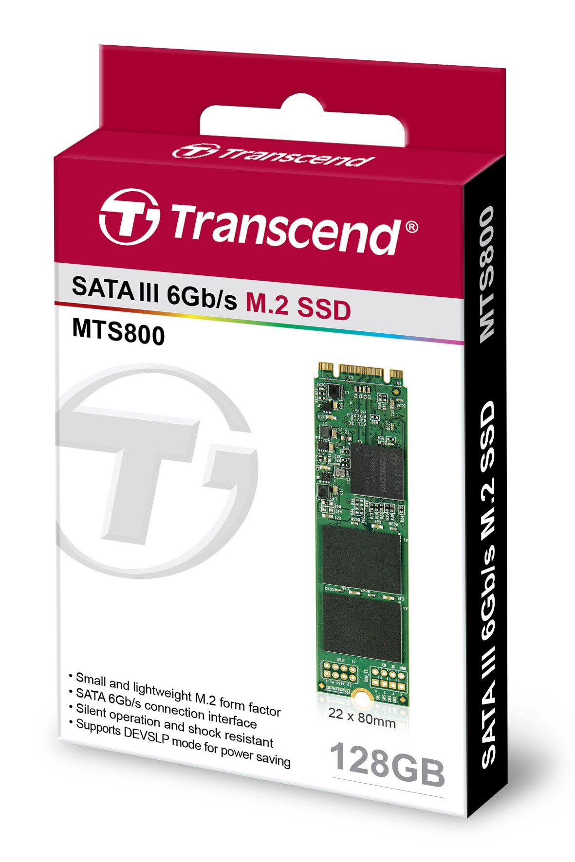 Transcend 128GB SATA III 6Gb/s MTS800 80 mm M.2 Solid State Drive (TS128GMTS800) by Transcend (Image #5)