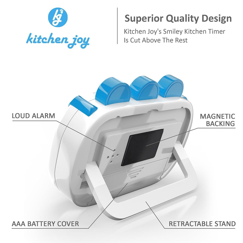 Amazon.com: Digital Kitchen Timer Kitchen Joy with Clock and Loud ...