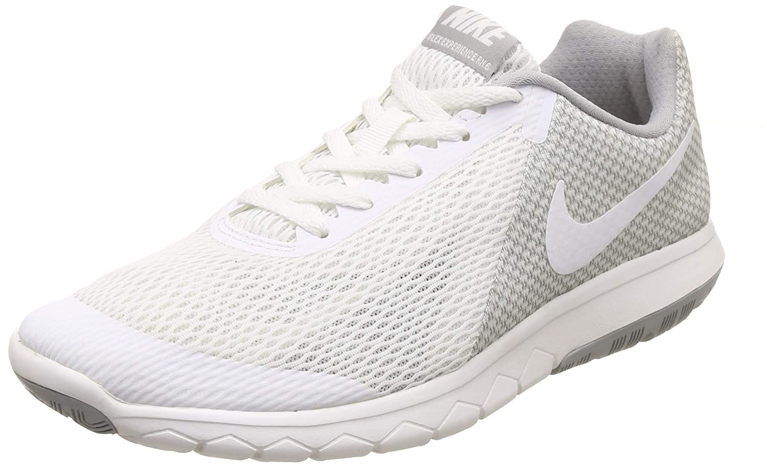 Nike Womens Flex Experience 6 Low Top Lace Up Running Sneaker, White, Size 9.5