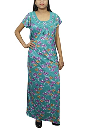 Indiatrendzs Women Stylish Nighty Floral Printed Green House Wear XL   Amazon.in  Clothing   Accessories 811c4c0f9