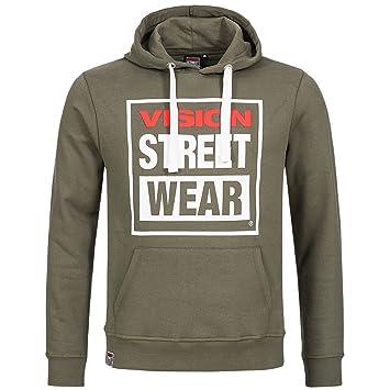 Capuche Kaki Street M Homme Vision À Pull Wear Pour wZX7CIqx