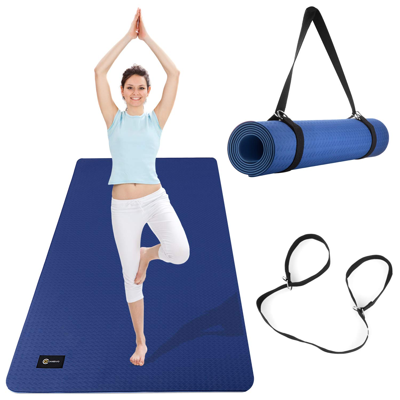 Amazon.com: Cambivo - Esterilla de yoga grande, respetuosa ...