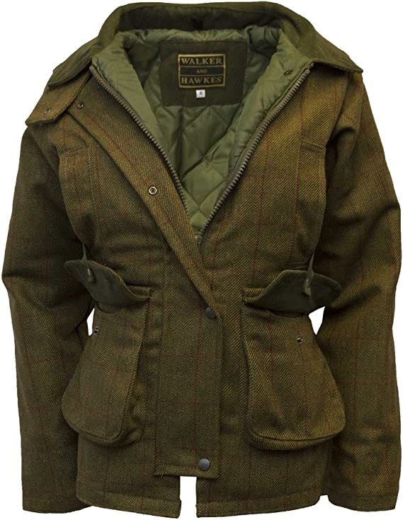 1920s Coats, Furs, Jackets and Capes History Walker and Hawkes Womens Derby Tweed Shooting Country Jacket  AT vintagedancer.com