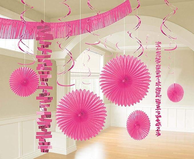 Silver Amscan 241700.18 Decorating Kit Party D/écor Multi Sizes