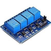 Yizhet 4 Kanal Relais Modul 5V DC 230V Optokoppler passend für Arduino Raspberry Pi (4 Kanal)