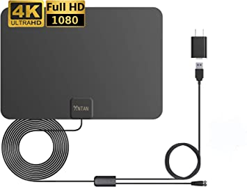 ANTAN Antena de TV HD amplificada para interiores de hasta 45 – 65 ...