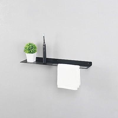 Buy Modern Bathroom Shelves Wall Mounted Metal Towel Rack Modern Wall Shelf Utility Storage Shelf Racks Floating Shelves Towel Holder Black Online In Indonesia B08hm4kh4w