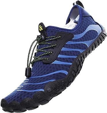 Lvptsh Zapatos de Agua para Hombre Zapatos de Playa Zapatillas Minimalistas de Barefoot Secado Rápido Calcetines de Piel Descalza Escarpines de Verano Deportes ...