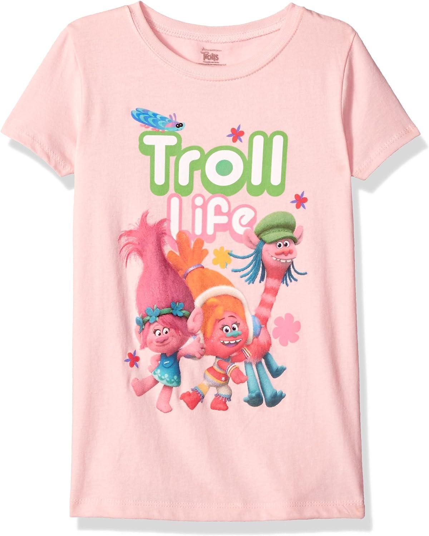 Kids Girl Trolls Summer Short Sleeve T-shirt Children Clothing 6//6x
