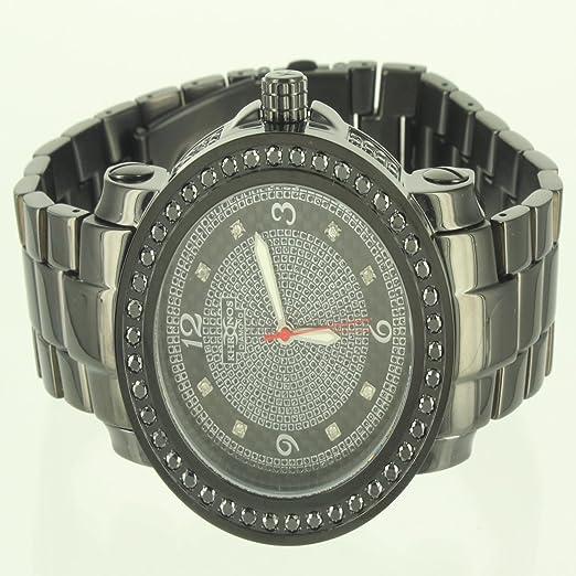 Kronos Diamond Hombres Elegante 360 Ice Master reloj de acero dorado King: Amazon.es: Relojes