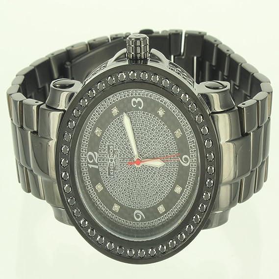 Kronos Diamond Hombres Elegante 360 Ice Master reloj de acero dorado King