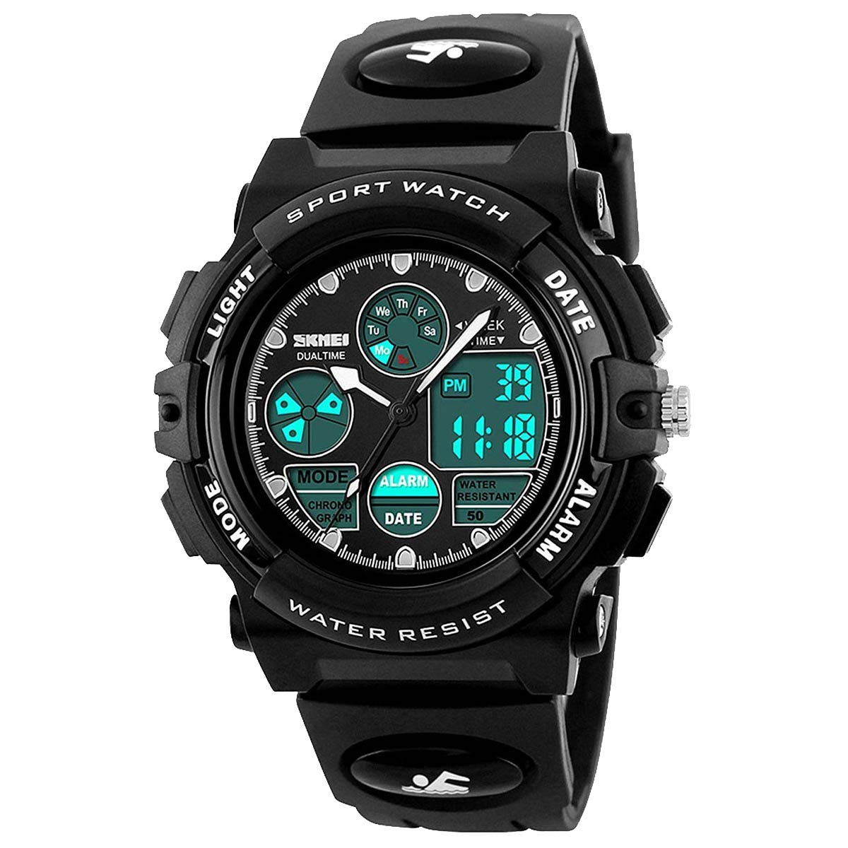 Kids Watches for Boys Girls Digital Waterproof Sports with Alarm Stopwatch LED Electronic Quartz Wrist Watch Student Youth Teens children1163 by AFARER