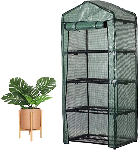 Windyus 4 Tier Mini Greenhouse Replacement Cover Outdoor Portable Walk-in Greenhouse PE Cover Tier Home Plant Greenhouse Tent