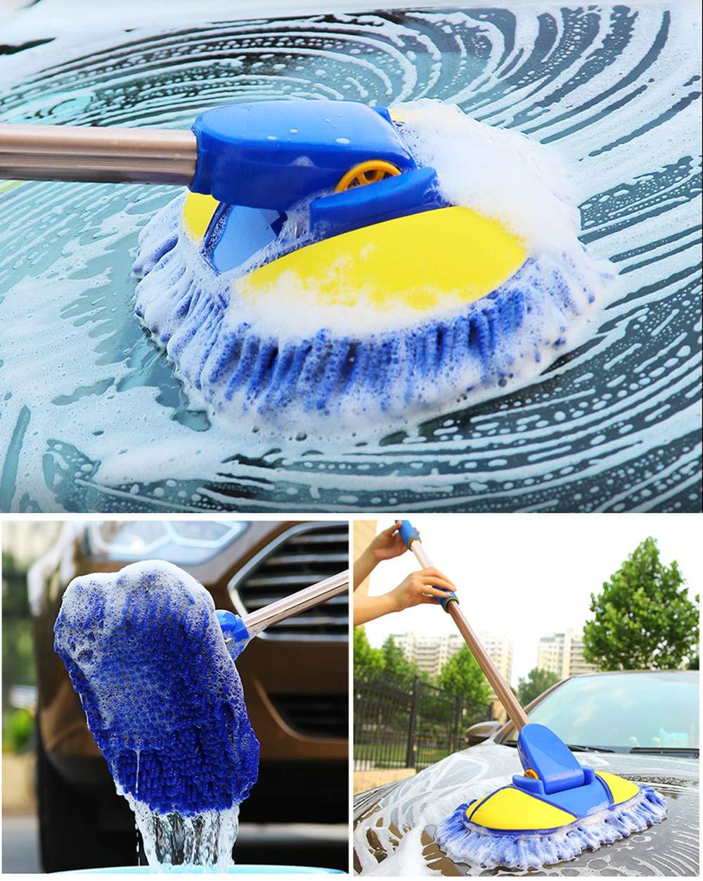 Innoter Ultra Plush Telescopic Chenille Car Wash Brush Rotation Car Wash Brush Microfibre Car Drying Towels Super Absorbent Detachable