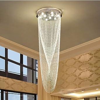 Araña de techoLa araña de luces de cristal, Villa moderna casa adosada araña de gran escalera de iluminación interior, 9 luces / 60 * 180cm: Amazon.es: Iluminación