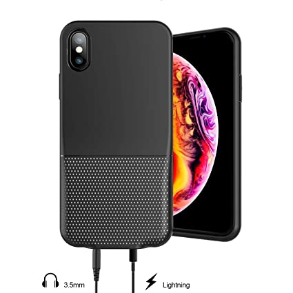iPhone XS/X Audio Case,Laudtec 3.5mm & Lightning Jack Adapter Case For Apple iPhone XS