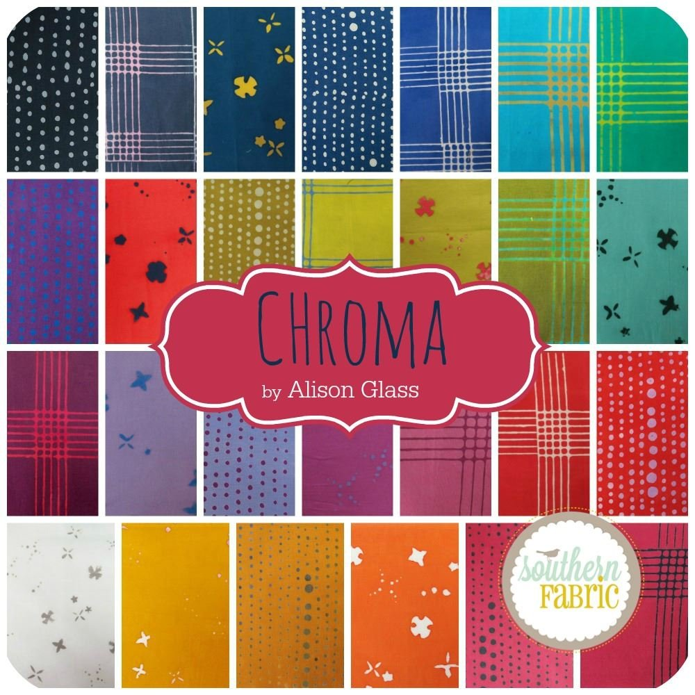 Andover Chroma Fat Eighth Bundle (26 pcs) - Alison Glass 9 x 21 inches (22.86cm x 53.34cm) Fabric cuts DIY Quilt Fabric