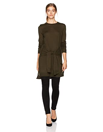 aef18999edb Amazon.com  BCBGMAXAZRIA Women s Odylyne Knit Sweater with Tie Front   Clothing