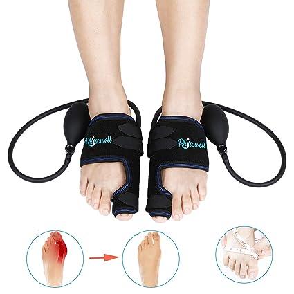 Corrector ortopédico neumático para juanetes, totalmente ajustable con presión barométrica controlable - alisador de dedo