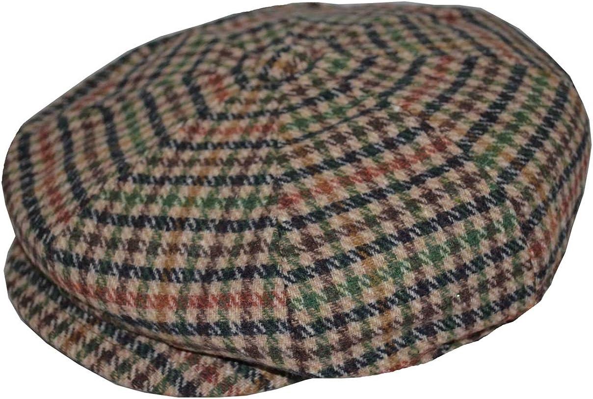 Newhattan Men's 8 Panels Wool Acrylic Apple Jack Cap Snap Front