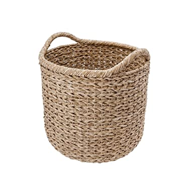 KOUBOO 1060091 Handwoven Decorative Storage Basket, X-Large, 20  x 20  x 22 , Twisted Sea Grass