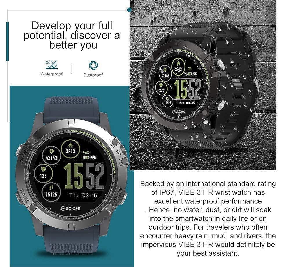 Zeblaze Vibe 3 HR Reloj Inteligente Deportivo, Smartwatch Hombre ...