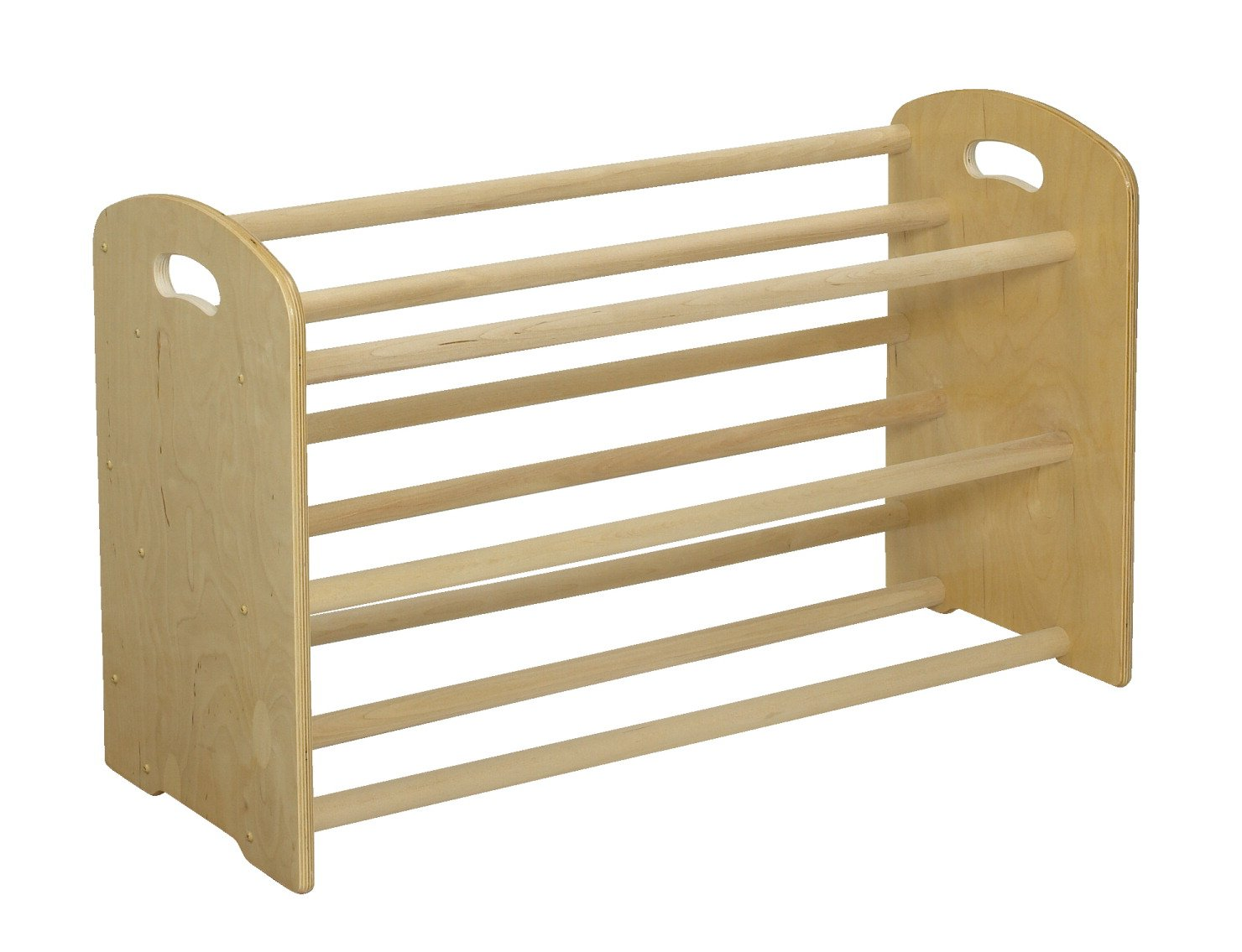 Childcraft ABC Furnishings 12 Tray Dowel Cubby Rack, 35-3/4 x 14-1/2 x 21-3/4 inches