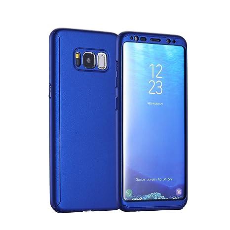 IMOO Funda de móvil Samsung Galaxy S8 360 grados paquete sólido con un agujero Para Samsung