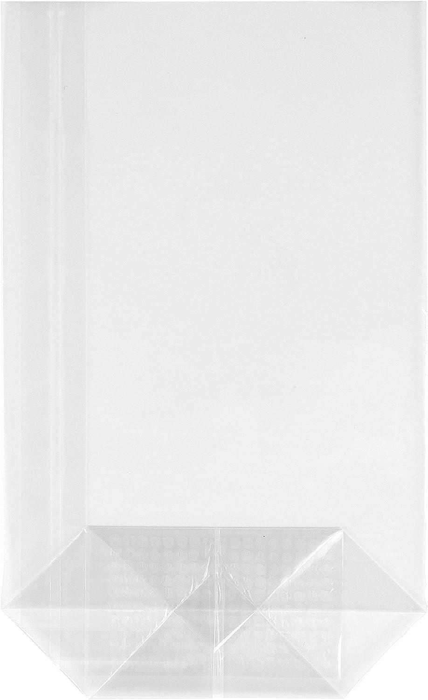 190x115x45mm HEKU 30541 100 Sac de sol transparent avec fond crois/é stable