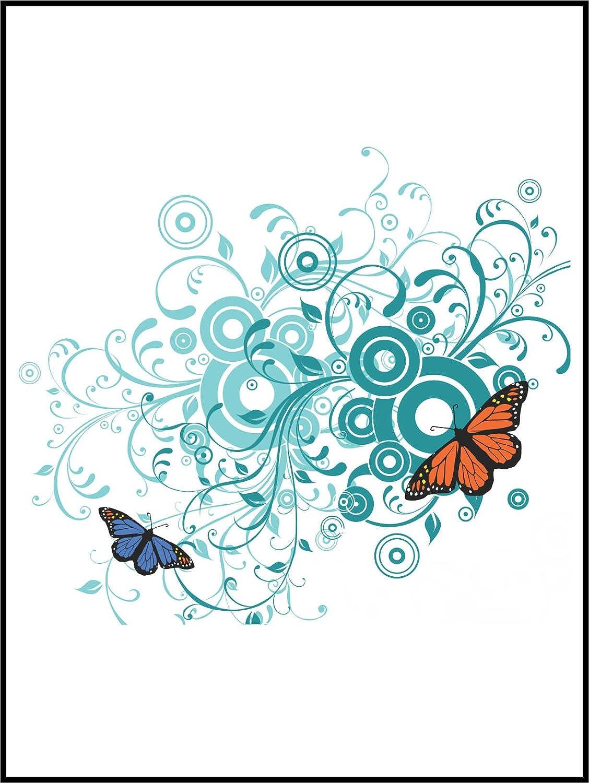 NUR F/ÜR WEI/ßE FLIESEN Sch/ön Schmetterling ME003 Fliesenaufkleber Fliesentattoos f/ür Bad /& K/üche wei/ßes Viereck als Hintergrund K/üchenfliesen f/ür einzelne Flie/ßen 10x10 cm