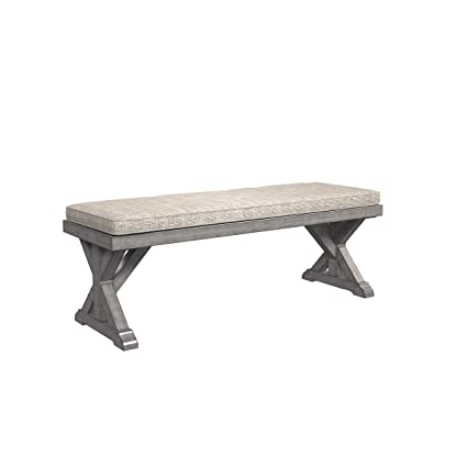 Exceptionnel Ashley Furniture Signature Design   Beachcroft Outdoor Bench With Cushion   Dining  Bench   Removable Cushion