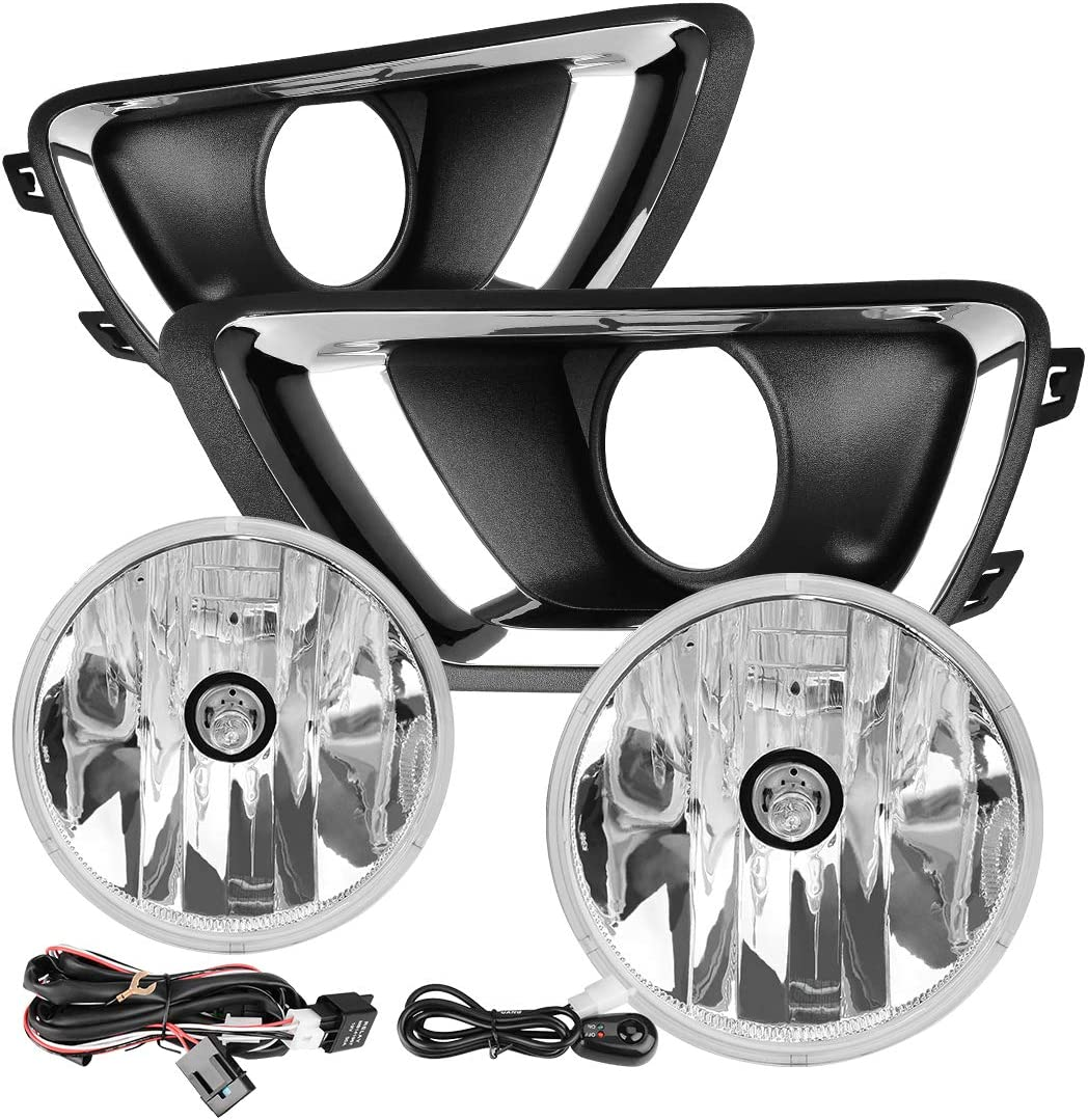 Amazon.com: AUTOSAVER88 Fog Lights Compatible with Chevy Colorado 2015 2016  2017 2018 with PS 24W 12V Halogen Lamp (Clear Lens w/Wiring Kit & Switch):  AutomotiveAmazon.com