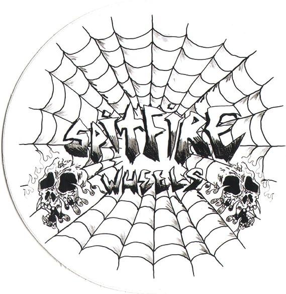 """SPITFIRE US FLAG LOGO STICKER ~ Skateboard Skate Wheels 3.75/"""" vinyl NEW"""