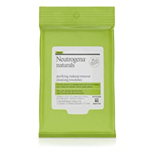 Neutrogena Naturals Purifying Makeup Remover Facial Cleansing Towelettes with Peruvian Tara Seed Bionutrient, Hypoallergenic, Non-Comedogenic & Sulfate-, Paraben- & Phthalate-Free Face Wipes, 7 ct.
