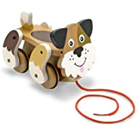Melissa & Doug 3028 Playful Puppy Wooden Pull Toy for Beginner Walkers