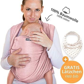 Écharpe de portage 100% coton - rose - porte-bébé de haute qualité pour e6dc8d79007