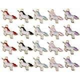 iloveDIYbeads 50pcs Gold Plated Cute Enamel Unicorn Charm Pendant for DIY Jewelry Making Necklace Bracelet Earring DIY Jewelry Accessories Charms M158