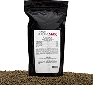 Aqua Max Sport Fish 500, 3/16 Inch(4.8mm) Extruded Floating Fish Food For Trout, Bluegill, Hybrid Striped Bass, Feed Trained Largemouth Bass, Yellow Perch, Sunfish, Crappie, Red Drum, and Many Other Species, 18 Ounces