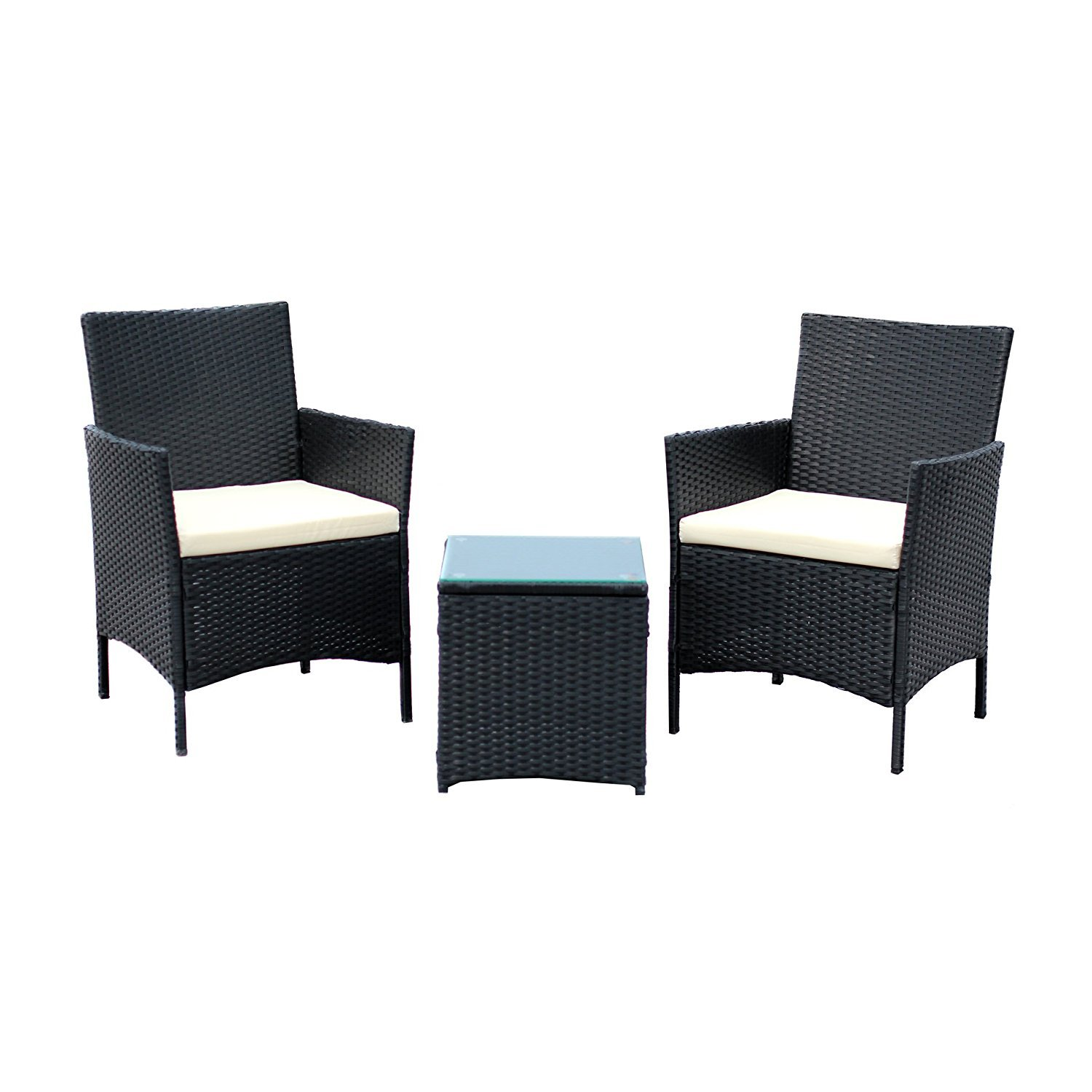 ebs 3 st ck rattan outdoor garten m bel terrasse set. Black Bedroom Furniture Sets. Home Design Ideas