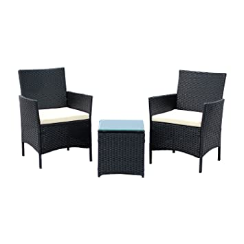 EBS 3 Piece Rattan Outdoor Garden Furniture Patio Set Clearance Sale Coffee  Table   2 Chairs. EBS 3 Piece Rattan Outdoor Garden Furniture Patio Set Clearance