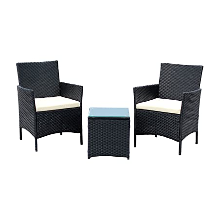 Ebs 3 Piece Rattan Outdoor Garden Furniture Patio Set Clearance Sale