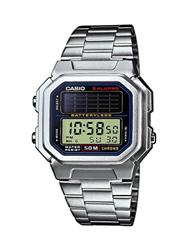 Casio CASIO Collection Men - Reloj digital de caballero de cuarzo con correa de acero inoxidable