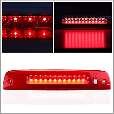 Sanzitop Fit for 2003-2016 Ford Expedition/Lincoln Navigator LED 3rd Brake Lights Cargo Lamp Center Tail Light 923259 7L1Z13A613A 6L1Z13A613AA (Chrome Housing Red Lens): Automotive