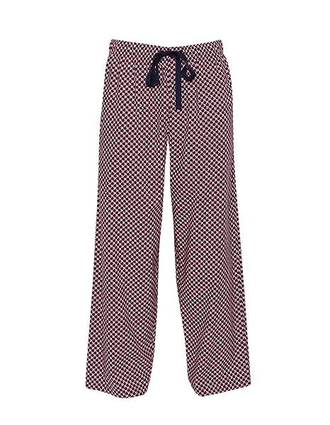 Cyberjammies - Pantalón de Pijama - Rayas - para Hombre Rojo Granate