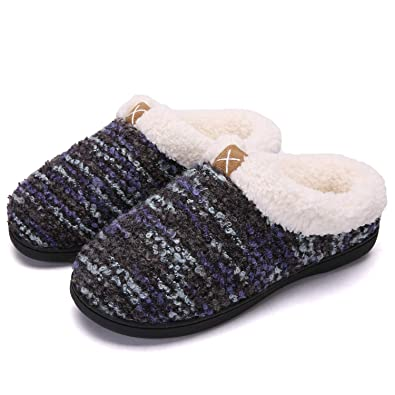 cheapest price great deals promo codes adituob Women Men Winter House Slippers Comfort Memory Foam House Shoes  with Anti-Skid Rubber Sole for Indoor Outdoor