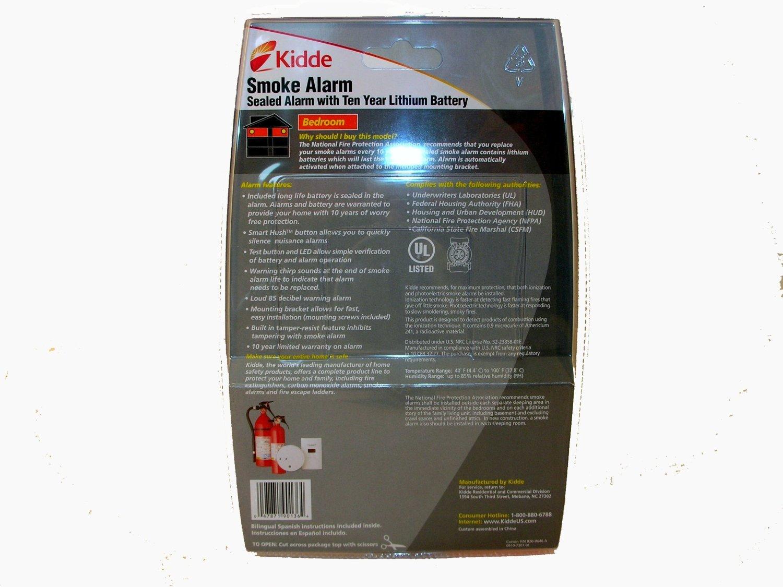 Kidde 0910 sellada de 10 años funciona con pilas de litio detector de humos con de silencio y Smart (4 unidades): Amazon.es: Bricolaje y herramientas