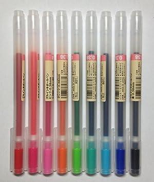 無印良品Gelインクペン0.38 MMボールペン9-colorsパック 1