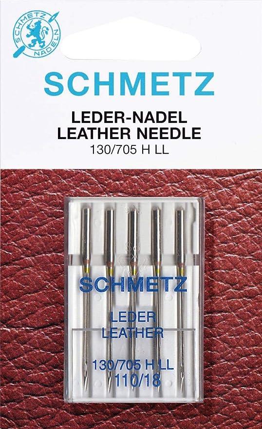 Agujas para Máquinas de Coser Schmetz 130/705 LL cuero ST ...