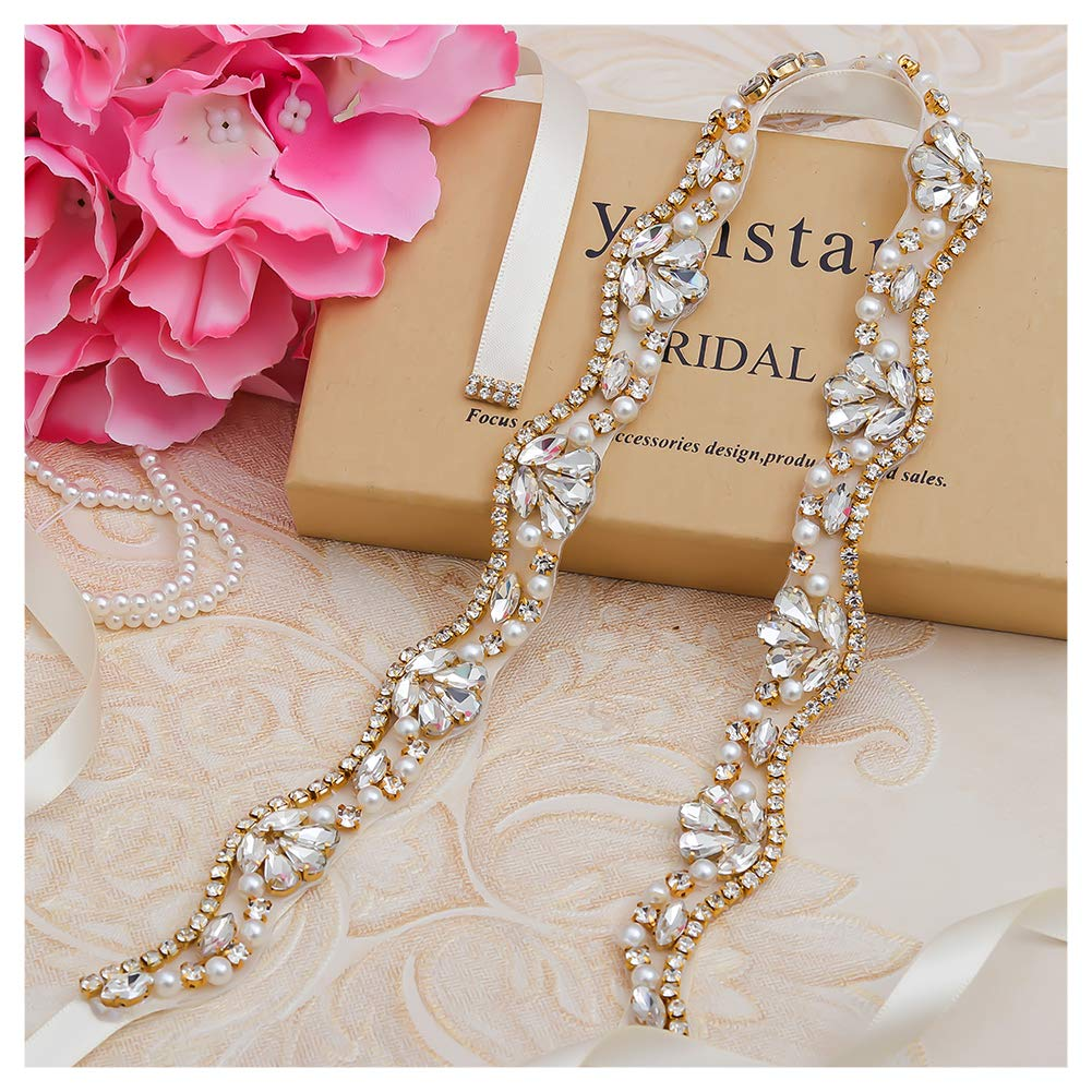 Yanstar Handmade Rhinestone belt Wedding Bridal Belt Sashes For Bridesmaid Dress