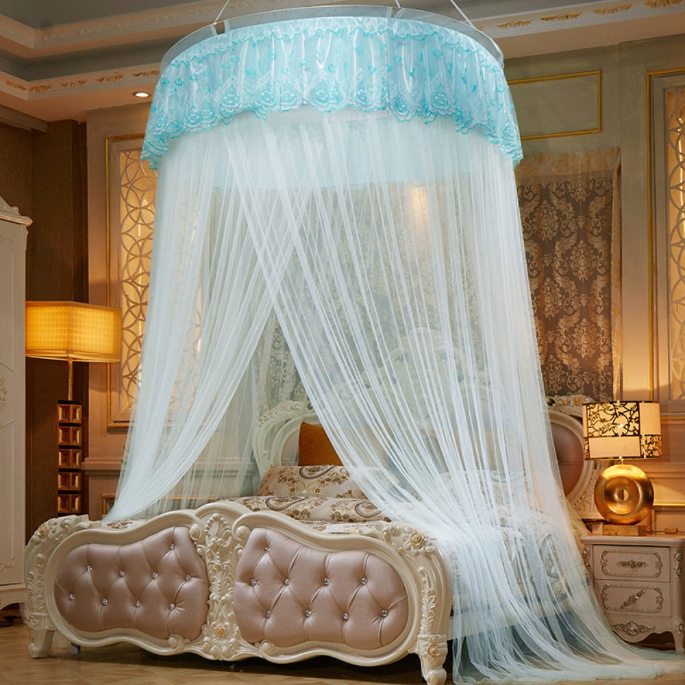 Lustar Mosquito Net Bed Canopy For Children Fly Insect Protection Indoor Decorative Height 280cm Top Diameter 1.2m,Green